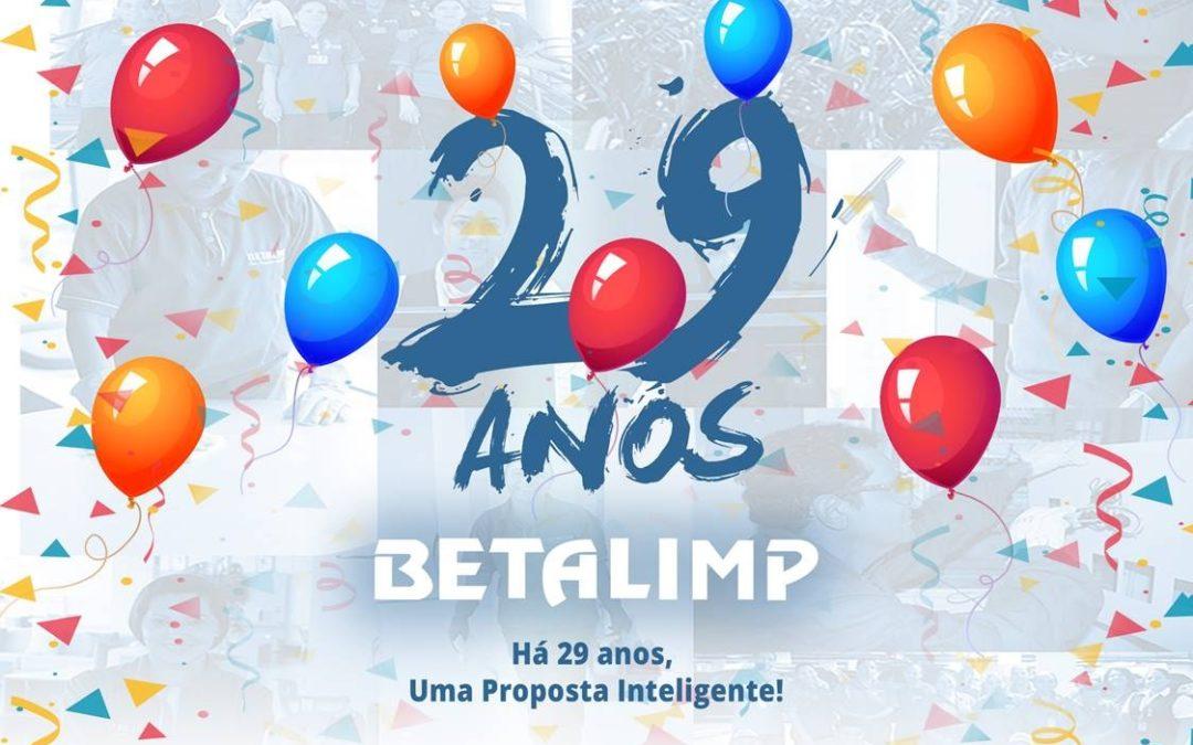 BETALIMP HÁ 29 ANOS, UMA PROPOSTA INTELIGENTE